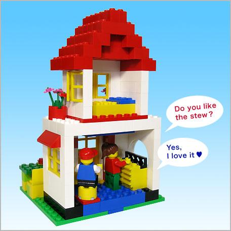 LEGO : A Happy House-Blue bucket- Let's LEGO/Sachiko