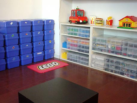 Lego corner in my house - It is very hard to organize Lego bricks ...